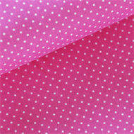 Afbeelding van Kleine witte stipjes - S - Roze