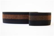 Image de Ceinture élastique - Noir avec Lignes en Cuivre