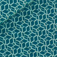 Afbeelding van Skew Cube - M - Turquoise