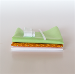 Picture of Set for extra doll dress - Orange - Fresh Pastel Green
