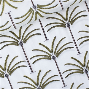 Picture of Palms - Cotton Lawn - Gebroken Wit
