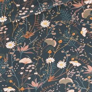 Picture of Flower Field - M - French Terry - Night Blue