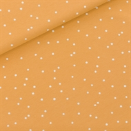 Picture of Snow Dots - M - French Terry - Honey Yellow