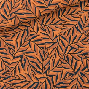 Picture of Leaves - M - Viscose - Rayon - Boksvelgeel